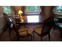good looking dining room table and chairs