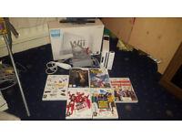 Nintendo Wii Boxed Bundle (Ofiicial Wii Controller, Nunchuck, Sensor, 6 Games)