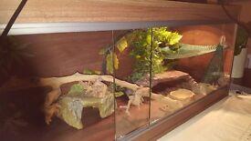 Lizard tank - dark wood 45.5 x 17 x 15