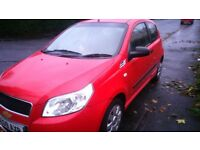 EXCELLENT 09 RED AVEO, LOW MILEAGE 88000, 3 DR HATCHBACK, LONG MOT JUNE /18, NEW BATTERY FITTED