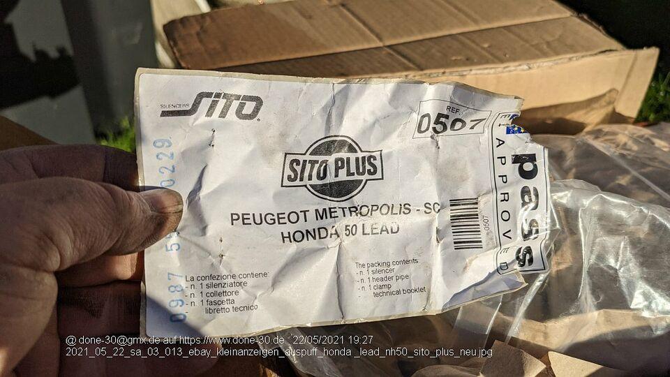 Auspuff Honda Lead NH 50 NEU  Sito Plus incl Krümmer und Dichtung in Senden