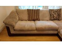 Large corner sofa bed with pouffe foot stool great condition