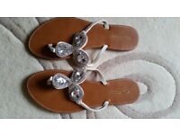 Miss Selfridge Brand New Jewelled Sandals