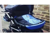 Kaps 3 Flash 2-in-1 Pram/ Pushchair + carry cot &rain foil+ accessories