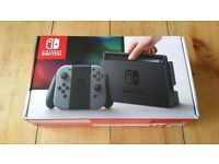 Nintendo switch in grey! Brand new sealed box SOLD OUT
