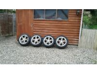 Genuine vauxhall SRI alloys and tyres size 18''