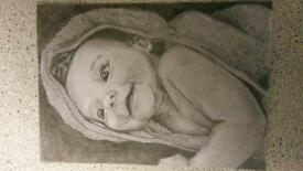 SKETCH ARTIST LOOKING FOR WORK NOW. BABY SKETCHES ETC