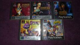 Ps1 Games Tomb Raider Crash Bandicoot Spyro Playstation 1 5