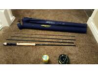 Airflo fly rod and reel plus carry case
