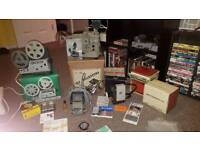 Vintage projectors and accessories