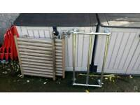Vintage antique radiators and towel rail