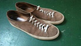 Brown Buttero Suede Sneakers
