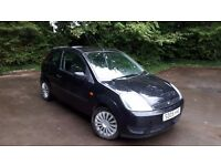 Ford Fiesta 1.2LX, 3 Foor, Full Service History, MOT Sept 2018 in Black