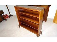 Dark wood antique bookcase