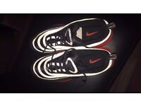 """Airmax 97 Black and Red Size """"8"""" UK"""