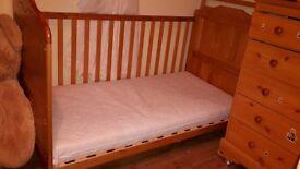cot bed.