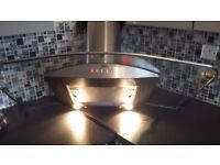 Cooker hood curved glass and stainless steel