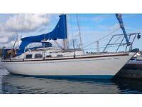 SHIPMAN 28 GREAT SAILING CRUISER WITH RECENT VOLVO DIESEL ENGINE £8950