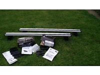 Thule WingBar 961 with Rapid System 753, Kit 3028 + 3013 for BWM and Peugeot, Roof Rack Bars