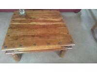 Large sheesham solid wood coffee table