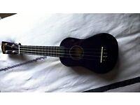Purple ukulele, unused with case.