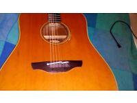 Takamine EN10 classic 1989 electro acoustic guitar .plus tortoiseshell type Tak case