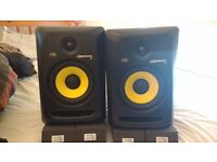 Pair of KRK Rokit 6's with Isolation Pads (£25 bought separately) 6 months old. £195-RRP £300+