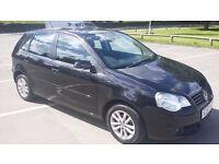 07' vw polo 1.4 black 5 door petrol manual very clean drives excellent 307 megane fabia yaris astra