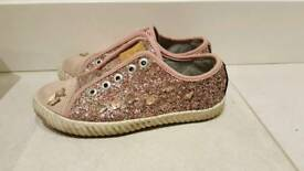 Girls next glitter butterfly shoes size 12