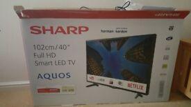 "Real bargain new 2 weeks old unused 40"" full HD smart tv"