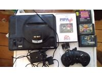 Sega megadrive all leads and games