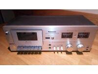 Vintage Panasonic Model RS-619 Stereo Cassette Tape Deck - excellent condition