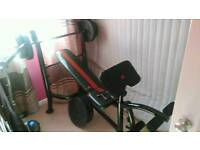 Adidas Weight bench and weights for sale