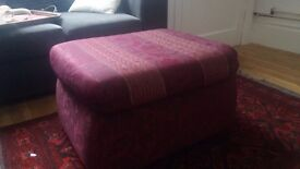 Upholstered Footstool/Pouffe. Offers Welcome