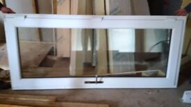 DOUBLE GLAZED PVC DOOR - WHITE WITH BRASS HANDLES