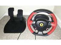 Ferrari steering wheel and pedals for Xbox one