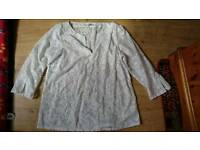 White top by M&S size 14