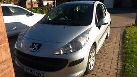 Peugeot 207S Metallic Silver 3 door hatch 2007 MOT March looked after service history Lady owner