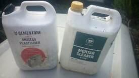 5L Mortar cleaner and 2.5L mortar plasticiser