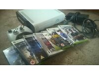 XBOX 360 120GB WITH EXTRA 120GB HARD DRIVE, CONTROLLER AND GAMES