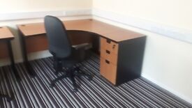 Executive office desks managers with desk high pedistals