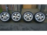 18 inch alloy x 4tyres, Dotz, from VW Golf