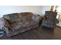 two seater sofa and armchair FREE but you must collect sunday 26th march