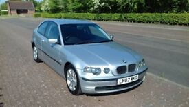 BMW 3 SERIES 316 TISE COMPACT, 65,000 MILES, FULL SERVICE HISTORY, EXCELLENT CONDITION