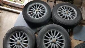 225/60/16 * 4 mags d'origine  Chrysler avec pneu été 6/32