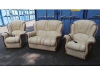 Quality Real Leather Remote Recliner Suite,Possible Delivery