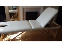 Portable Massage Bed/ Couch/ Table - Three Section, Wooden Frame, Good Quality
