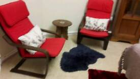 2 ikea poang chairs