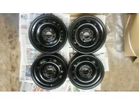 """4 x 14"""" ford steel rims / wheels also fits Mazda 2"""
