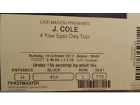 J Cole Tickets for this Sunday 15th October in London